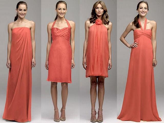 New Arrival Simple A Line Blush Color Bridesmaid Dress